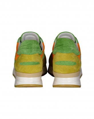 FRANTIC: Yellow, orange and green sneakers