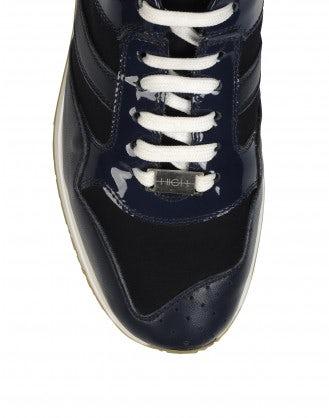 FRANTIC: Sneakers in vernice blu