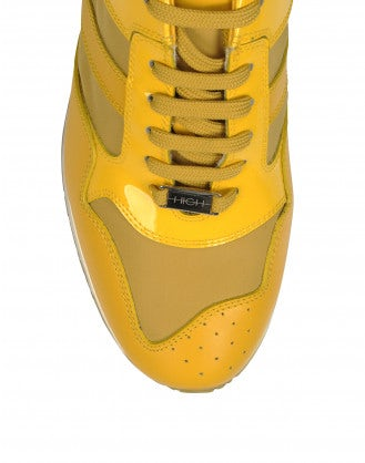 FRANTIC: Sneakers in vernice gialla