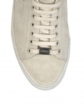 DODGE: Ivory suede sneakers