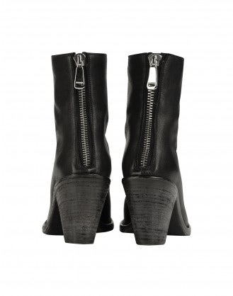 STACK: Stacked heel ankle boots