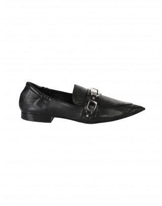 CALIBRE: Black Pointed toe loafers