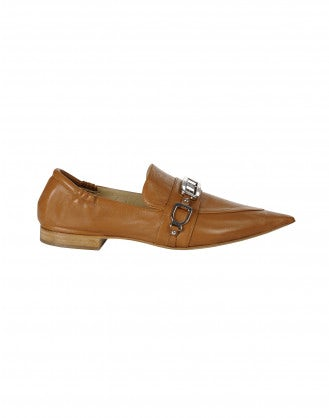 CALIBRE: Tan Pointed toe loafers