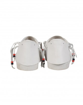 PELL-MELL: White leather moccasin sneaker