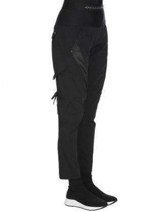 BETIDE: Multi panel pant in tech twill and satin