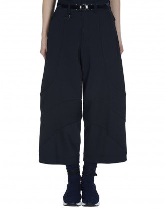 CREATIVE: Navy curved seam pants