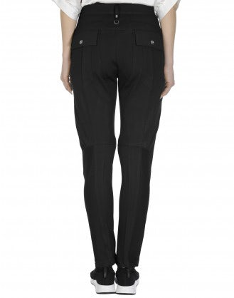 MAC: Black tapered leg pants