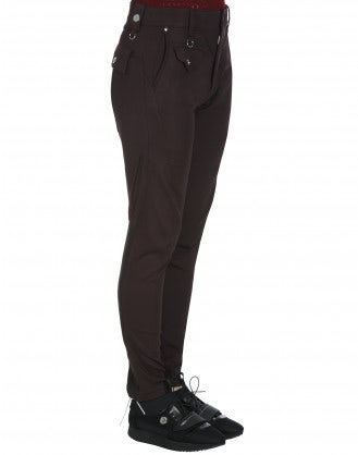 MAC: Burgundy tapered leg pants