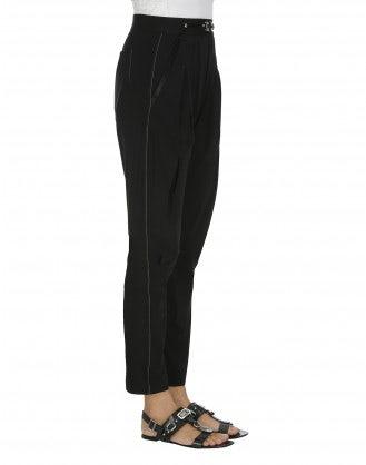 NEW-LURCH: Black tech stretch tapered leg pants