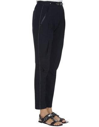 NEW-LURCH: Navy tech stretch tapered leg pants