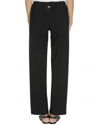 PROCEED: Black straight leg pants