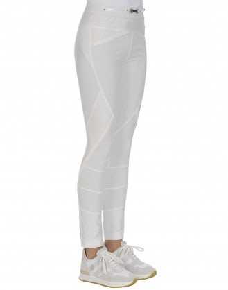 HI-LAY-OUT: White multi-seam pants