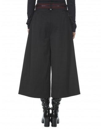 RAKU: Pantaloni ampi a campana in tessuto stretch