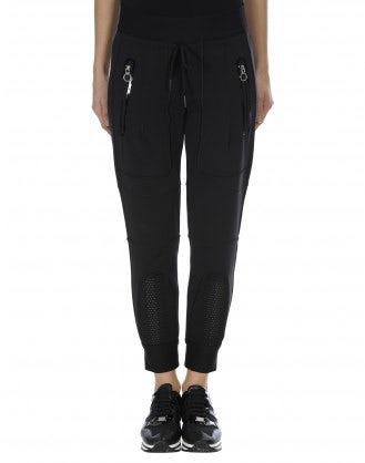 "HI-LEAP: Pantaloni in stile ""jogger"" con rete a nido d'ape"