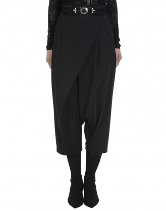 ENRAPTURE: Wrap-over side zip pants