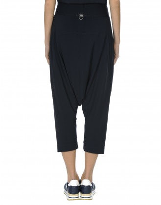 SKIRMISH: Pantaloni blu navy 3/4 in stile sarouel