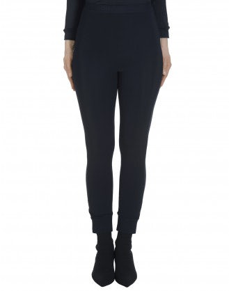 HALT: Navy classic tech jersey leggings