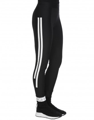 SPEEDY: Plain and rib jersey leggings
