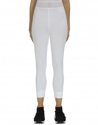 HALT: White & mesh Sensitive® leggings