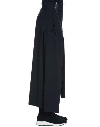 MODULE: Gonna a pantalone in twill blu navy