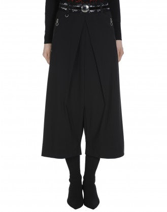 DITHER: Pantaloni culottes in Sensitive® nero