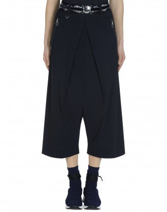 DITHER: Pantaloni culottes in Sensitive® blu navy