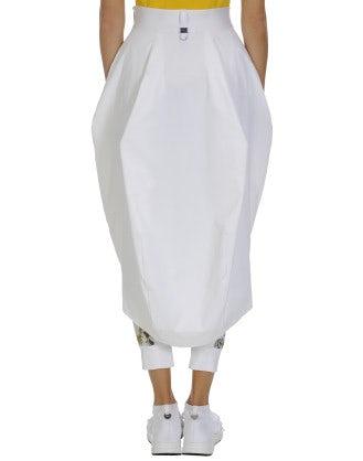 PREVAIL: Hi-Lo hem stretch piqué skirt