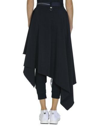 ALBERT: Handkerchief point skirt with floral panel