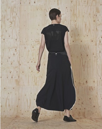 CHORAL: Gonna a pantalone sarouel nera