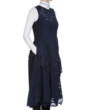 ODE: Fil coupé sleeveless dress