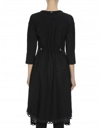PRAISE: Black pinstripe dress