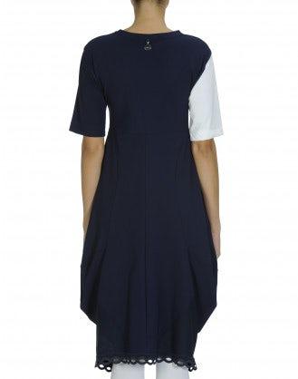 ASTONISH: Navy and white Sensitive® dress