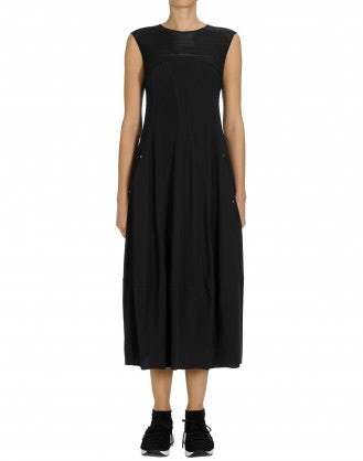 MESMERIZE: Black Sensitive® dress with tech lace yoke