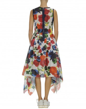 WATCH-OUT: Multi-colour abstract floral print dress