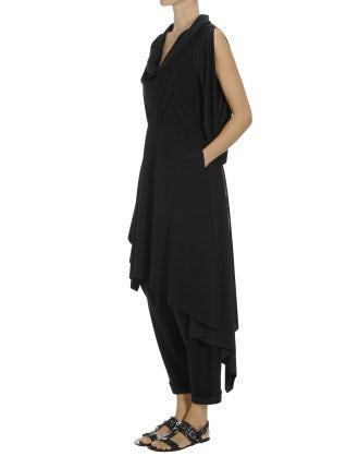 CURIOUS: Cowl neck tunic dress