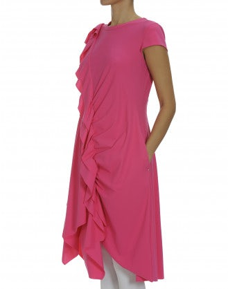 STRATEGY: Hot pink cap sleeve dress with ruffle