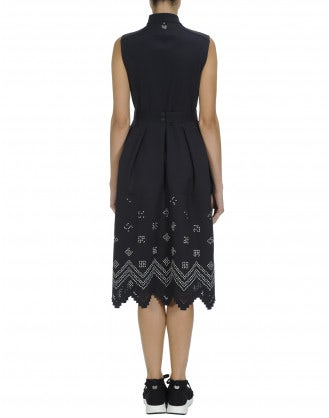 NIP-OUT: Zip front dress with laser cut hem