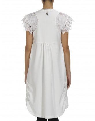 """HOITY: White """"neoprene"""" bell dress"""