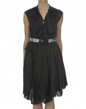 HOEDOWN: Black flamenco frill dress