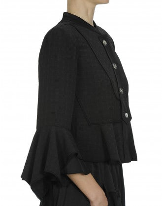 BECKON: Flared hem and cuff jacket