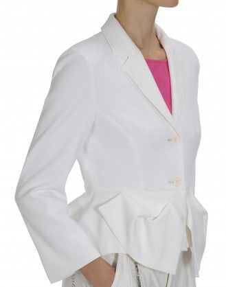 OPPORTUNE: White peplum jacket