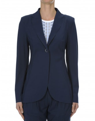 UPTOWN: Blue clean tailored jacket
