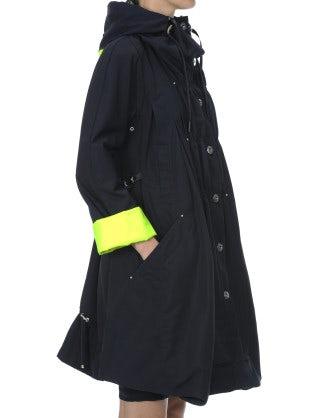 WINDLASS: HI-Visibility and navy hooded tech parka