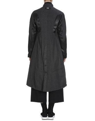 ANAGRAM: Cappotto a parka grigio in flanella