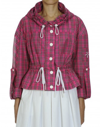 ELEMENT: Hot pink tartan check windcheater