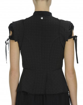 TRANSFORM: Black cap sleeve gilet