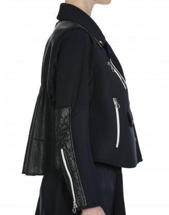 ANALOGY: Short flared zip jacket