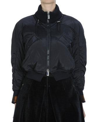 REPORTAGE: Short padded blouson jacket
