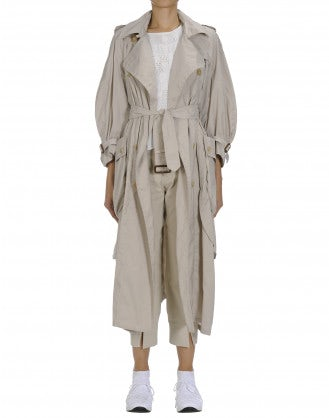 DIALECT: Beige summer trench coat