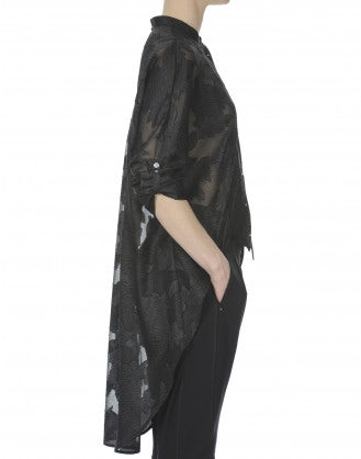 BIBELOT: Camicia tuxedo fil coupé con pettorina frontale